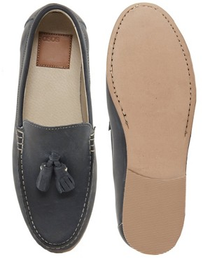 Image 3 ofASOS Tassel Loafers in Leather