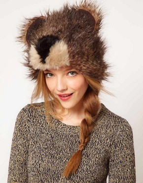 Image 1 ofASOS 3D Bear Fur Hat