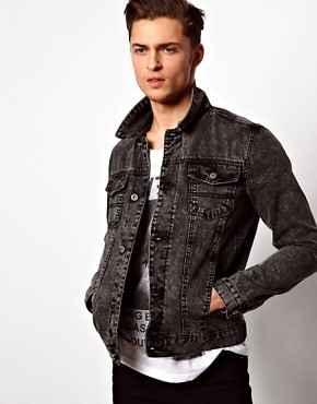 Image 1 ofASOS Denim Jacket With Acid Wash