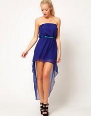 Glamorous Chiffon Bandeau Hi Lo Dress