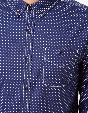 Image 3 ofAnother Influence Polka Dot Shirt
