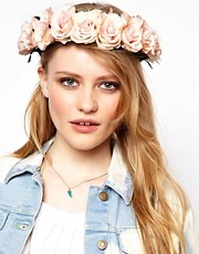 Rock &#39;n&#39; Rose Penelope Oversized White Floral Crown Head Band