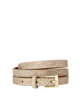 Image 1 ofOasis Faux Snake Leather Belt