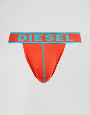 Diesel Microfibre Jockstrap In Colour Block