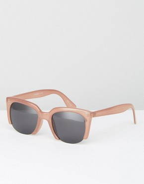 Pieces Cut Off Cat Eye Sunglasses In Pink