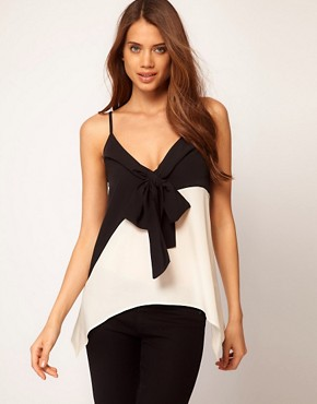 Image 1 ofASOS Cami With Bow Front