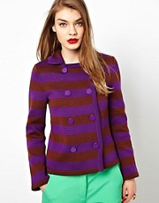 M Missoni Striped Peacoat