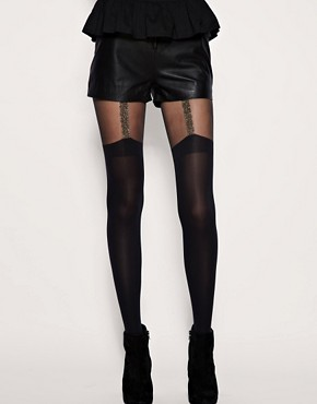Image 1 ofHouse Of Holland For Pretty Polly Chain Suspender Tights