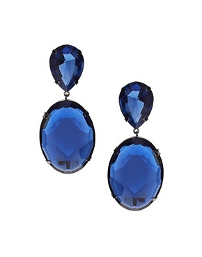 Image 1 ofASOS Oval Drop Earrings