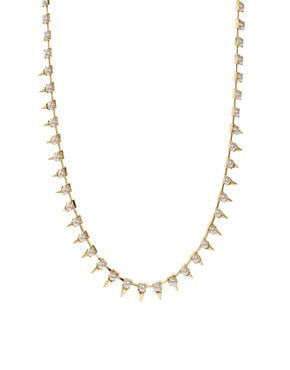 Image 1 ofASOS Under Collar Spike &amp; Stone Necklace