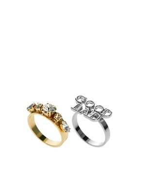 Image 1 ofASOS Multipack Good Bad Engagement Rings