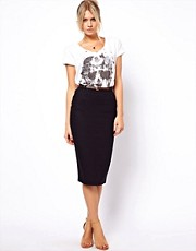 ASOS Linen Pencil Skirt with Belt