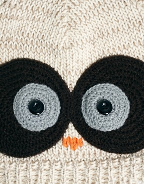 Image 3 ofASOS Owl Beanie With Crochet Eyes