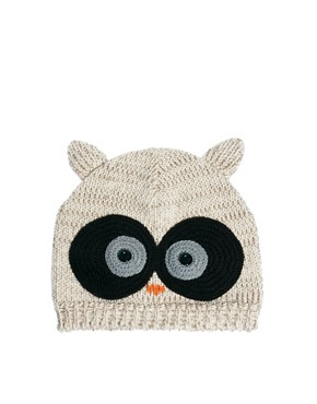 Image 4 ofASOS Owl Beanie With Crochet Eyes