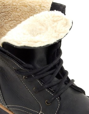 Image 2 of ASOS Foldover Shearling Lined Boot