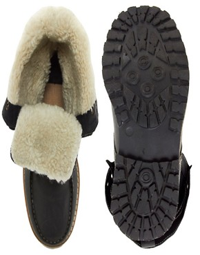 Image 3 of ASOS Foldover Shearling Lined Boot