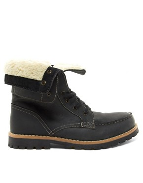Image 4 of ASOS Foldover Shearling Lined Boot
