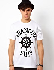 Abandon Ship  T-Shirt mit Logodruck