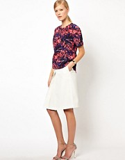 Whistles Tropical Floral Soft Peplum Top
