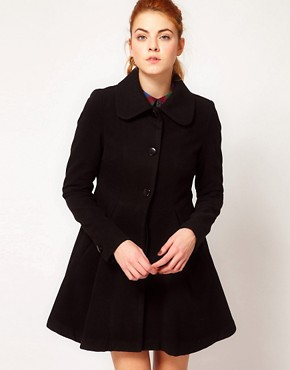 Image 1 ofVila Flared Coat