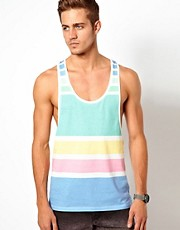 ASOS Stripe Vest In Pastel Tones