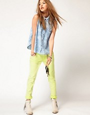 Maison Scotch La Parisienne Jeans in Neon Yellow
