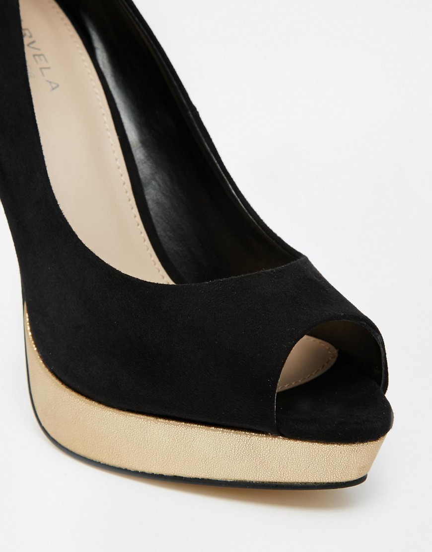 Image 3 of Carvela Kimberly Suedette Heeled Shoes