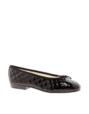 Image 1 ofFrench Sole Sturdy Quilted Ballerina Pump