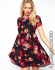 ASOS Maternity Smock Dress in Floral With Back Detail