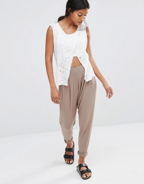 Glamorous Harem Drop Crotch Sweat Pants
