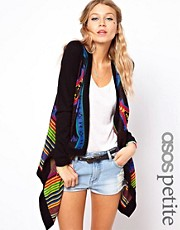 ASOS PETITE Exclusive Navajo Waterfall Cardigan