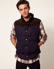 Selected Cord Gilet