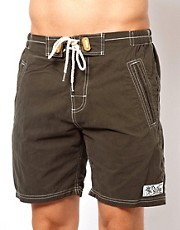 Superdry - Pantaloncini da surf neri