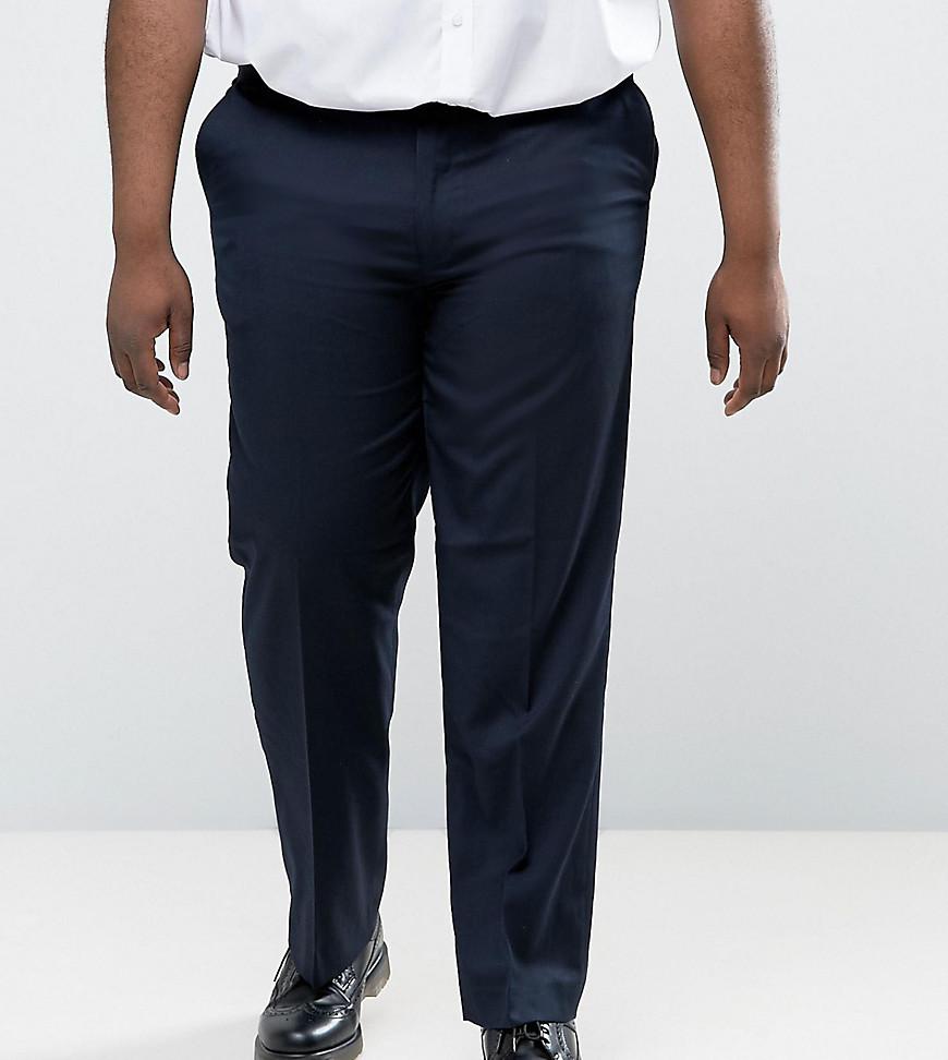Темно-синие строгие брюки Duke King Size - Темно-синий