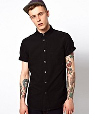 WESC Shirt Eric Short Sleeve Denim
