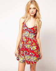 Motel Ditsy Floral Fit And Flare Dress