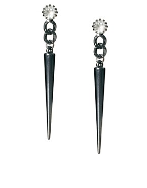 Image 1 ofASOS Spike Drop Earrings