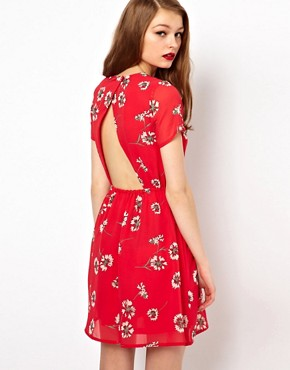 Image 1 of A Wear Tea Dress With Cut Out Back