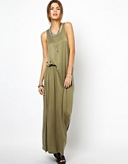 Diesel Ruched Waist Maxi Dress