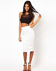 ASOS Pencil Skirt in Embossed Texture