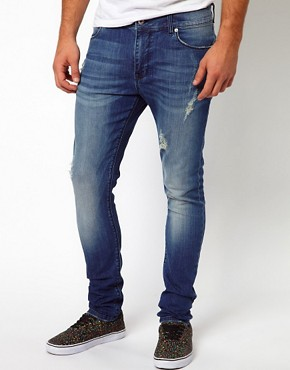 Image 1 of ASOS Super Skinny Jean With Rips