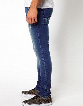 Image 4 of ASOS Super Skinny Jean With Rips