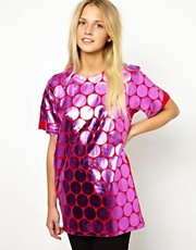 ASOS T-Shirt with Foil Spot Print
