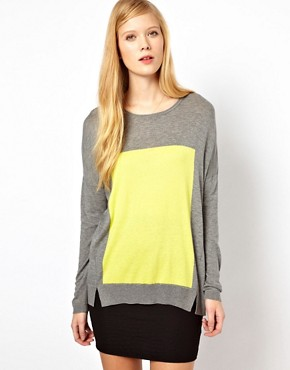 ASOS Whistles Mattie Intarsia Panel Sweater :  cashmere sweater panel