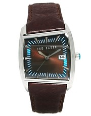 Ted Baker Square Face Leather Strap Watch TE1004