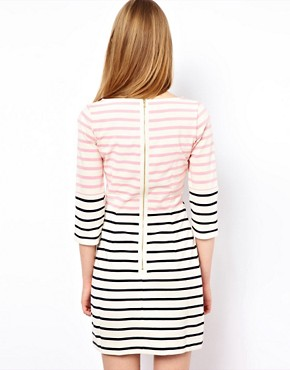 Image 2 ofMarkus Lupfer Multi Stripe Panel Dress