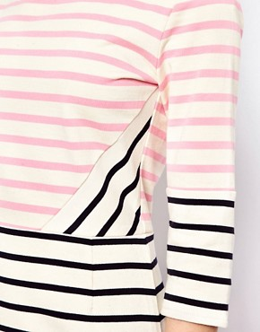 Image 3 ofMarkus Lupfer Multi Stripe Panel Dress