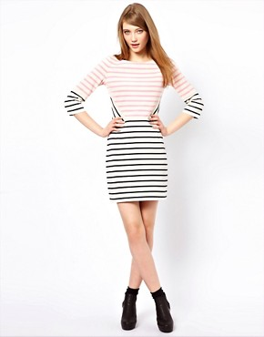 Image 4 ofMarkus Lupfer Multi Stripe Panel Dress