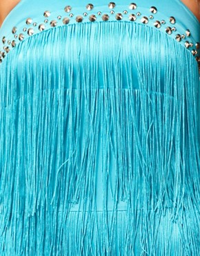 Image 3 ofLipsy Fringe Studded Shift Dress