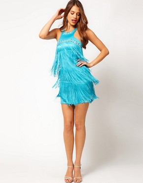 Image 4 ofLipsy Fringe Studded Shift Dress
